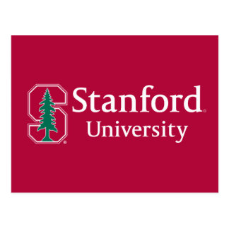 "Stanford University with Cardinal Block ""S"" & Tree Postcard"