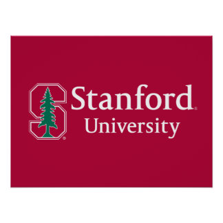"Stanford University with Cardinal Block ""S"" & Tree Poster"