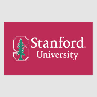 """Stanford University with Cardinal Block """"S"""" & Tree Rectangle Sticker"""