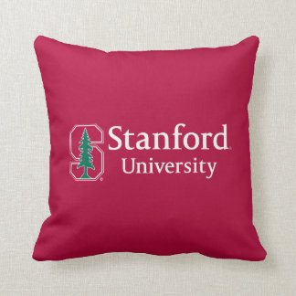 "Stanford University with Cardinal Block ""S"" & Tree Throw Pillow"
