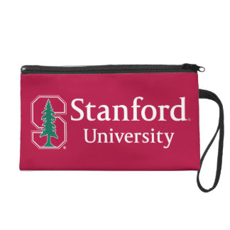 "Stanford University with Cardinal Block ""S"" & Tree Wristlet Purse"