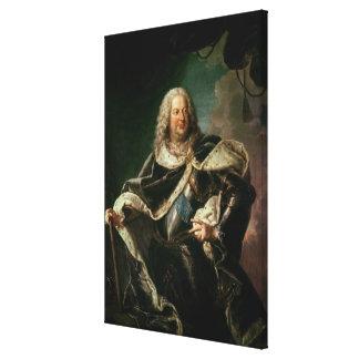 Stanislas Lesczinski  King of Poland Canvas Print