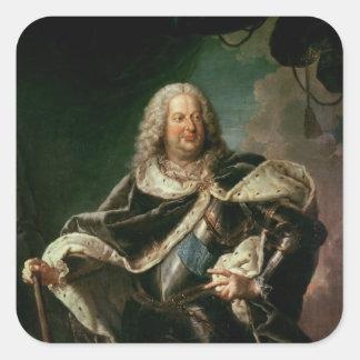 Stanislas Lesczinski  King of Poland Square Sticker