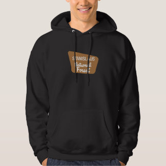 Stanislaus National Forest (Sign) Hooded Sweatshirt