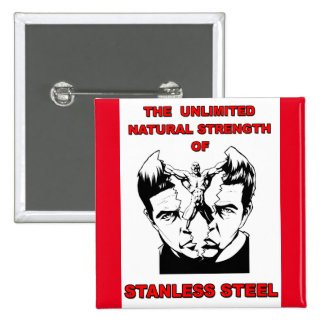 Stanless Steel 2 Inch Square Button