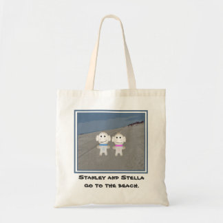 Stanley and Stella go to the beach Tote Bag