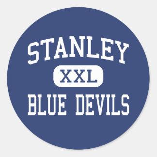 Stanley Blue Devils Middle Stanley Classic Round Sticker