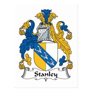 Stanley Family Crest Postcard