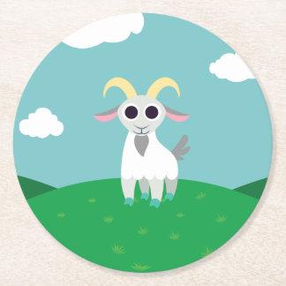 Stanley la cabra posavasos desechable redondo