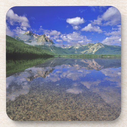 Stanley Lake in the Sawtooth Mountains of Idaho Beverage Coaster