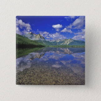 Stanley Lake in the Sawtooth Mountains of Idaho Button