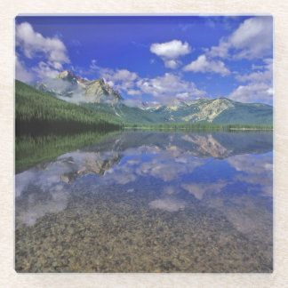 Stanley Lake in the Sawtooth Mountains of Idaho Glass Coaster