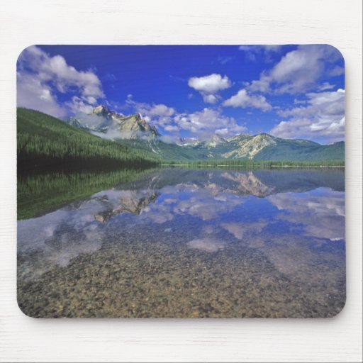 Stanley Lake in the Sawtooth Mountains of Idaho Mousepad