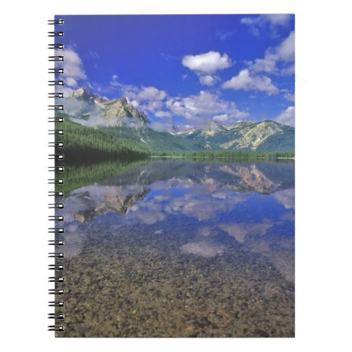 Stanley Lake in the Sawtooth Mountains of Idaho Spiral Notebook