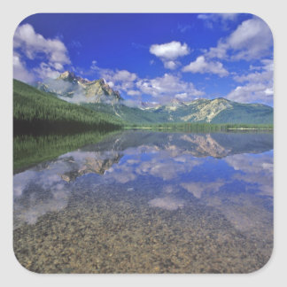 Stanley Lake in the Sawtooth Mountains of Idaho Square Sticker