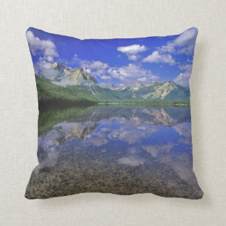 Stanley Lake in the Sawtooth Mountains of Idaho Throw Pillow