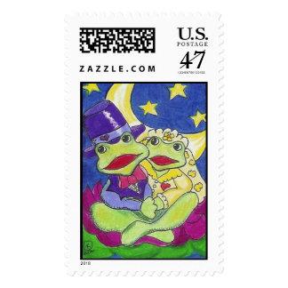 Stanley & Lulu Got Married Postage Stamp