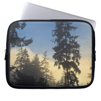Stanley Park, woods, marine layer fog rolling in Laptop Computer Sleeve