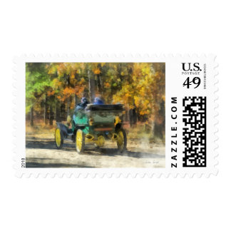 Stanley Steamer Automobile Postage Stamps