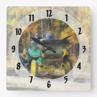 Stanley Steamer Automobile Square Wall Clock