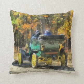 Stanley Steamer Automobile Throw Pillow