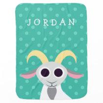 Stanley the Goat Receiving Blanket