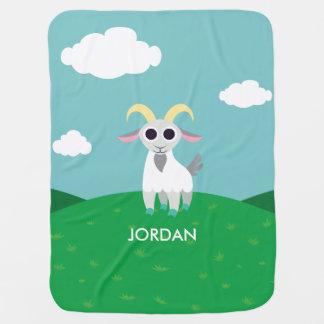 Stanley the Goat Stroller Blanket