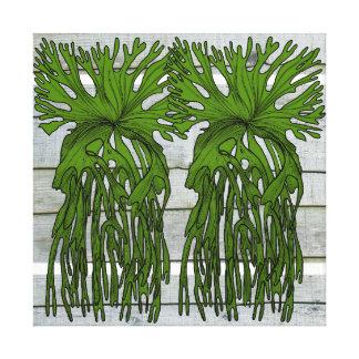 Stanley the staghorn fern canvas print