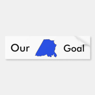 Stanly Dems blue 2, Our, Goal Bumper Sticker
