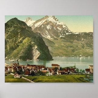 Stanstaad y Pilatus lago Alfalfa Suiza c Impresiones