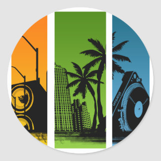 Stanton DJ World - Turntable Disc Jockey Music Round Stickers