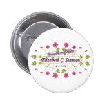 Stanton ~ Elizabeth Cady / Famous USA Women Pinback Buttons