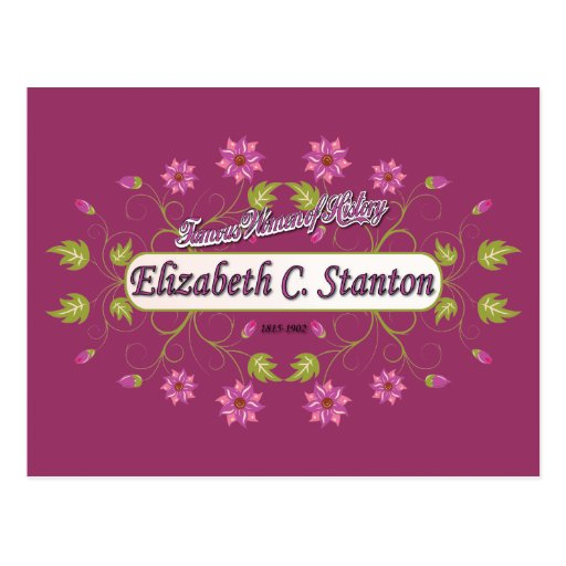 Stanton ~ Elizabeth Cady / Famous USA Women Postcard