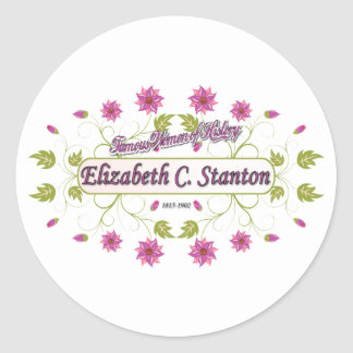 Stanton ~ Elizabeth Cady / Famous USA Women Classic Round Sticker