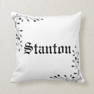 Stanton Family Surname Throw Pillow