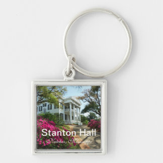 Stanton Hall in Natchez, MS Silver-Colored Square Keychain