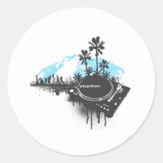 Stanton Miami - DJ Turntable Music Disc Jockey Round Sticker