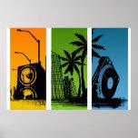 Stanton Turntable City Poster - DJ Disc Jockey
