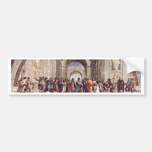 Stanza Della Signatura In The Vatican For Pope Jul Bumper Stickers