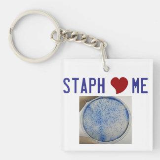 Staph love me keychain
