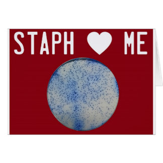 Staph Love Me red Card