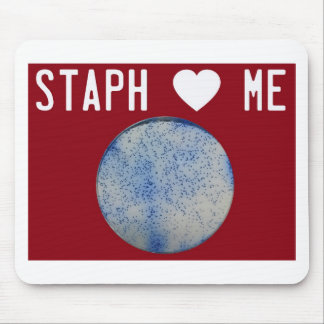 Staph Love Me red Mouse Pad