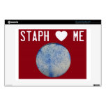 "Staph love me skin in red 13"" laptop skins"