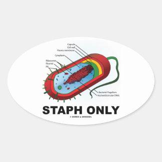 Staph solamente (bacterias del Prokaryote del Pegatina Ovalada