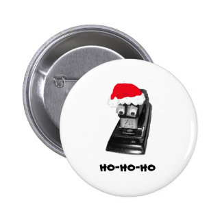 Stapler with Googly Eyes, Santa Hat, HoHoHo Button