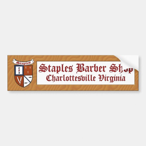 Staples barber shop sticker zazzle for Staples custom t shirts