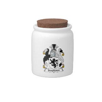 Stapleton Family Crest Candy Jar