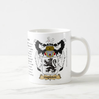 Stapleton, the Origin, the Meaning and the Crest Mugs