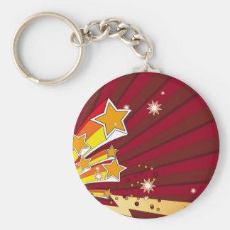 star_006 basic round button keychain