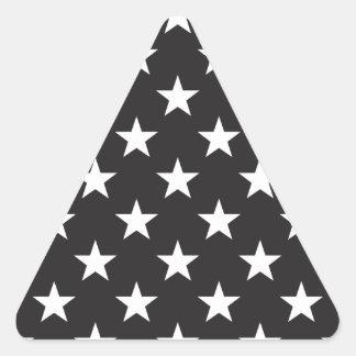 Star 1 Black and White Triangle Sticker